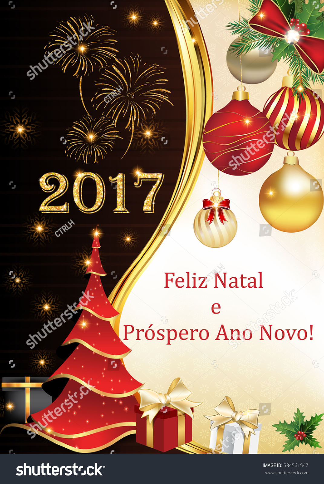 Portuguese Business Seasons Greetings Christmas New Stock