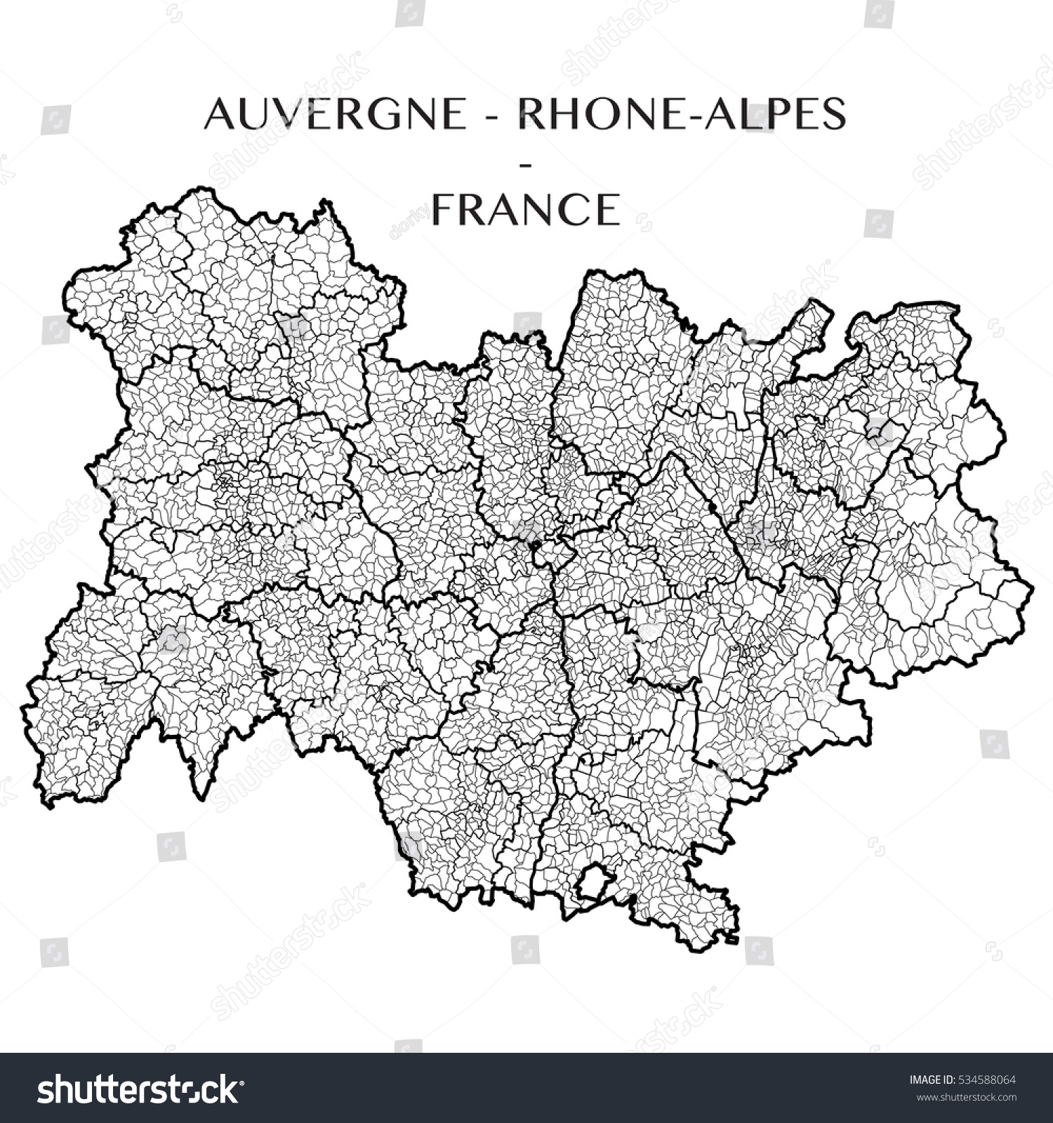Detailed map region auvergne rhone alpes vectores en stock 534588064 detailed map region auvergne rhone alpes vectores en stock 534588064 shutterstock gumiabroncs Image collections