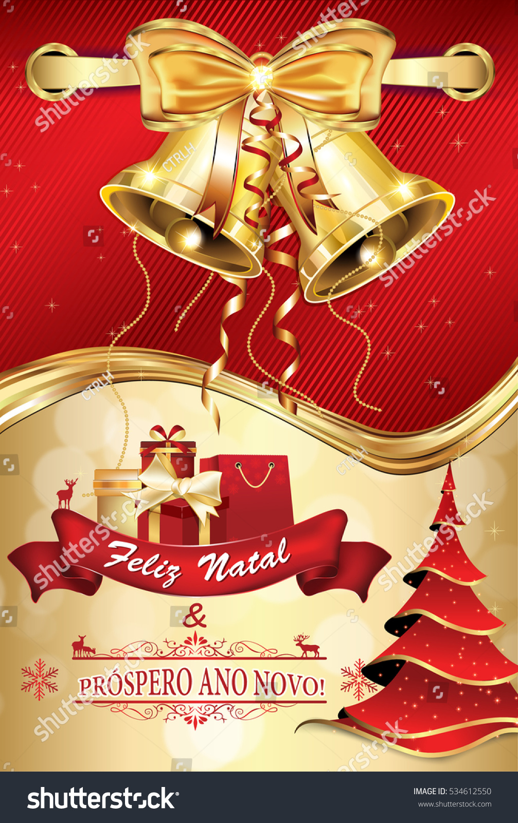 Portuguese business greeting card winter holiday stock illustration portuguese business greeting card for winter holiday text translation merry christmas and happy new m4hsunfo