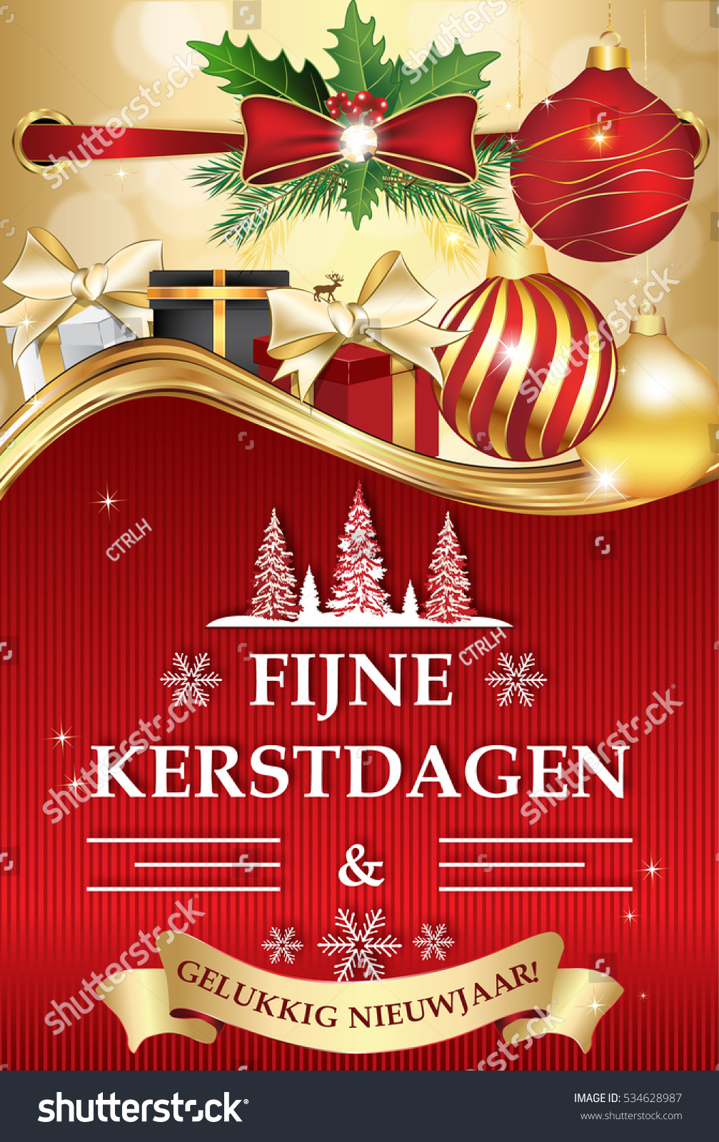 Dutch greeting card winter holiday text stock illustration 534628987 dutch greeting card for winter holiday text translation merry christmas and happy new year kristyandbryce Gallery
