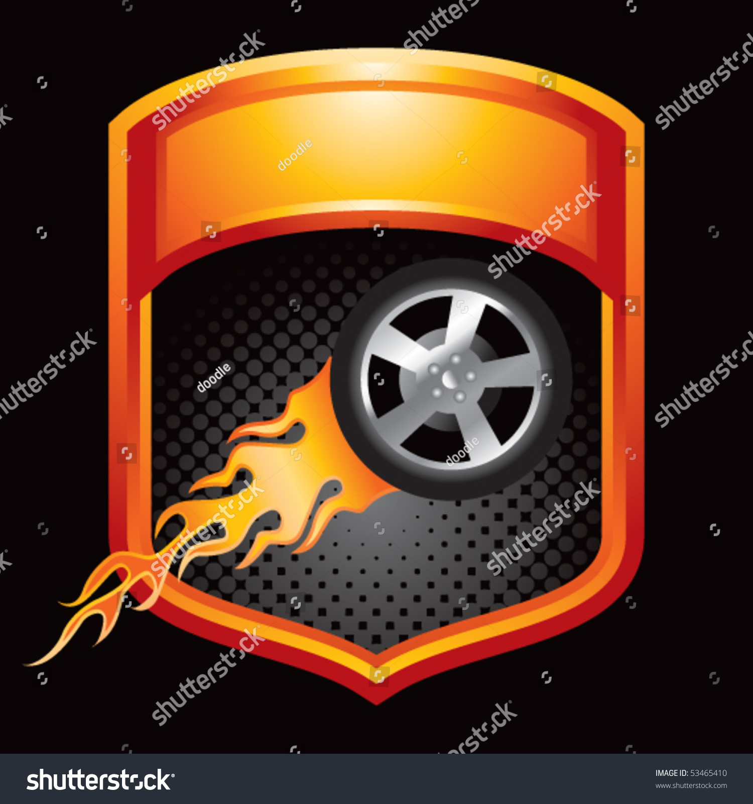 Flaming Tires Clipart | Free Images at Clker.com - vector ... |Flamming Tire