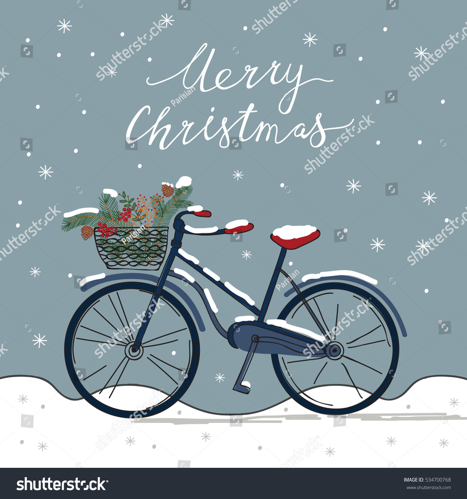 Bicycle Greeting Cards Stock Vector (Royalty Free) 534700768 ...