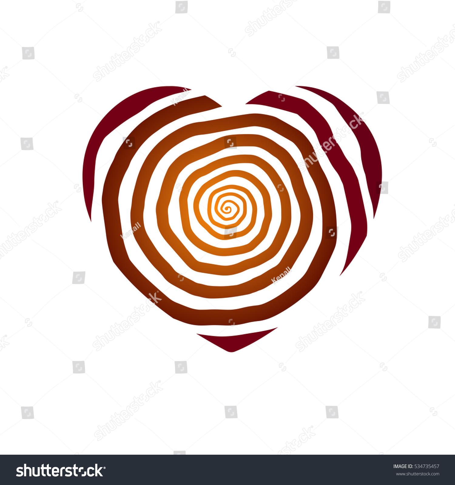 Heart Vector Valentines Day Symbol Love Stock Vector 534735457