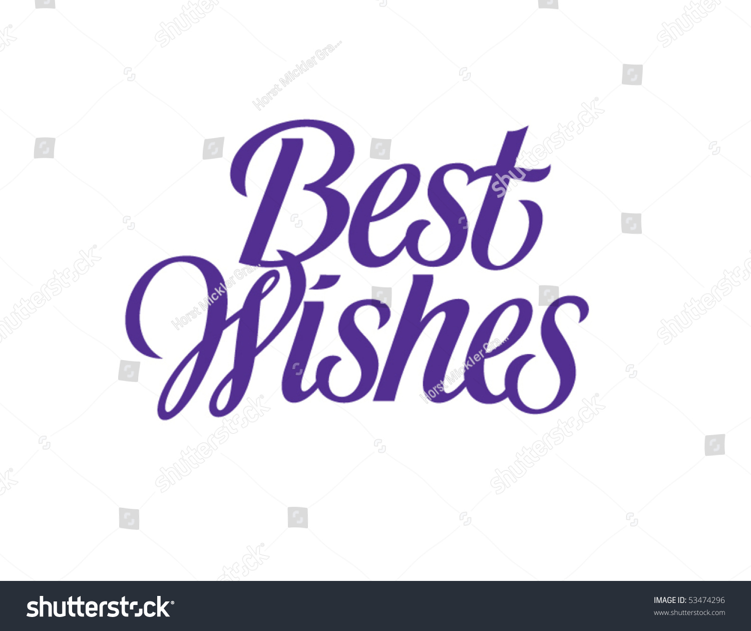 Best Wishes Vector Lettering Stock Vector 53474296