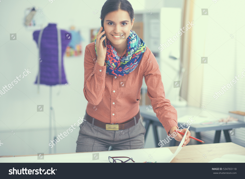 Young Fashion Designer Working Studio Stock Photo 534765118 Shutterstock