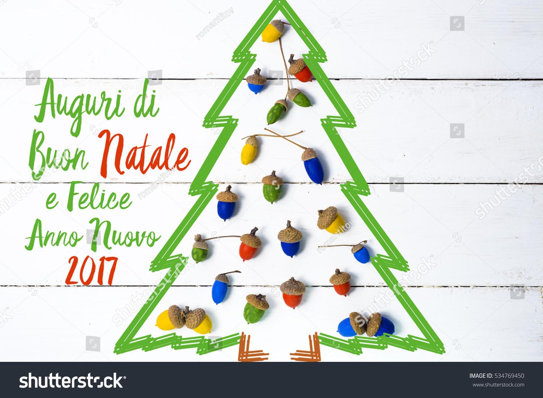 Merry Christmas Happy New Year Italian Stock Photo (Edit Now ...