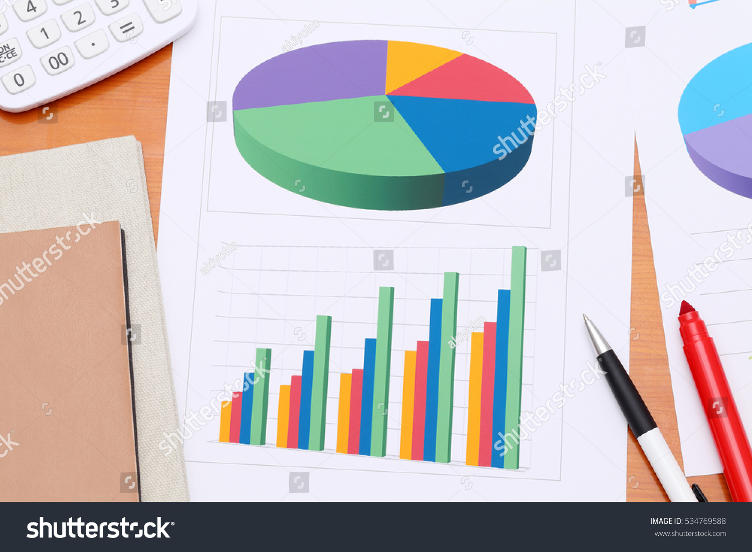 Color Chart Printed On Paper Sheet Stock Photo Royalty Free