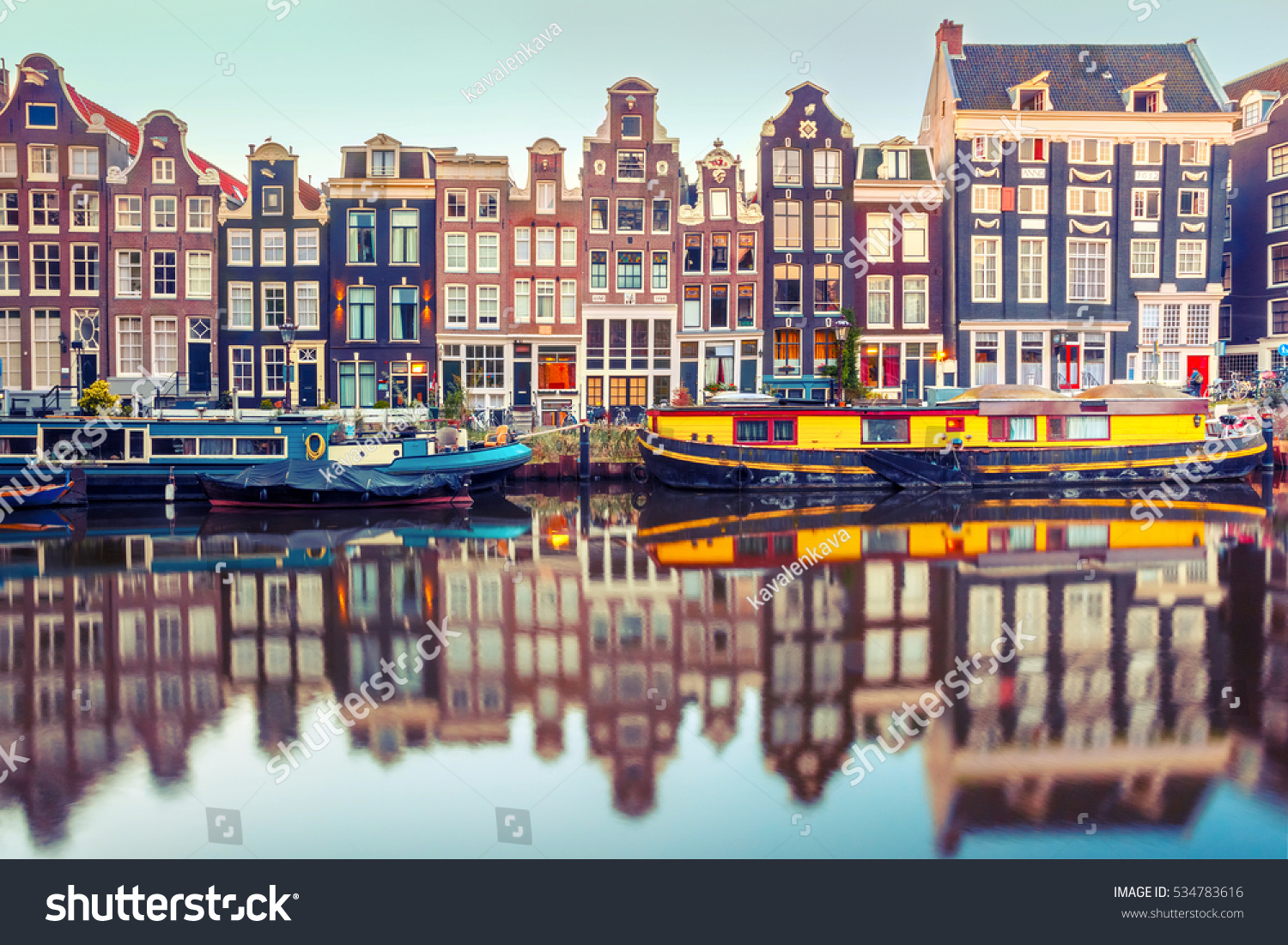 amsterdam canal singel typical dutch houses stock photo. Black Bedroom Furniture Sets. Home Design Ideas