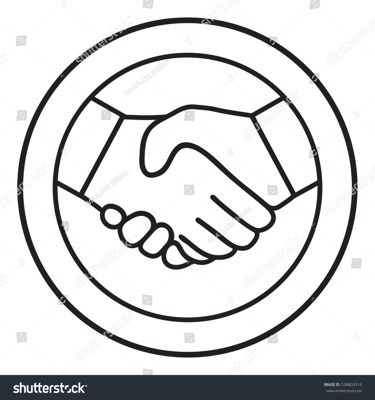 Symbol handshake circle line icon stock vector 534803314 symbol of handshake in circle line icon buycottarizona