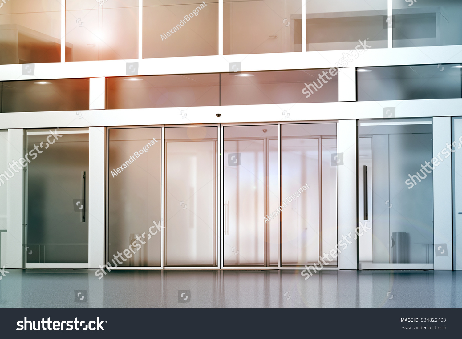 Royalty Free Stock Illustration Of Blank Sliding Glass Doors