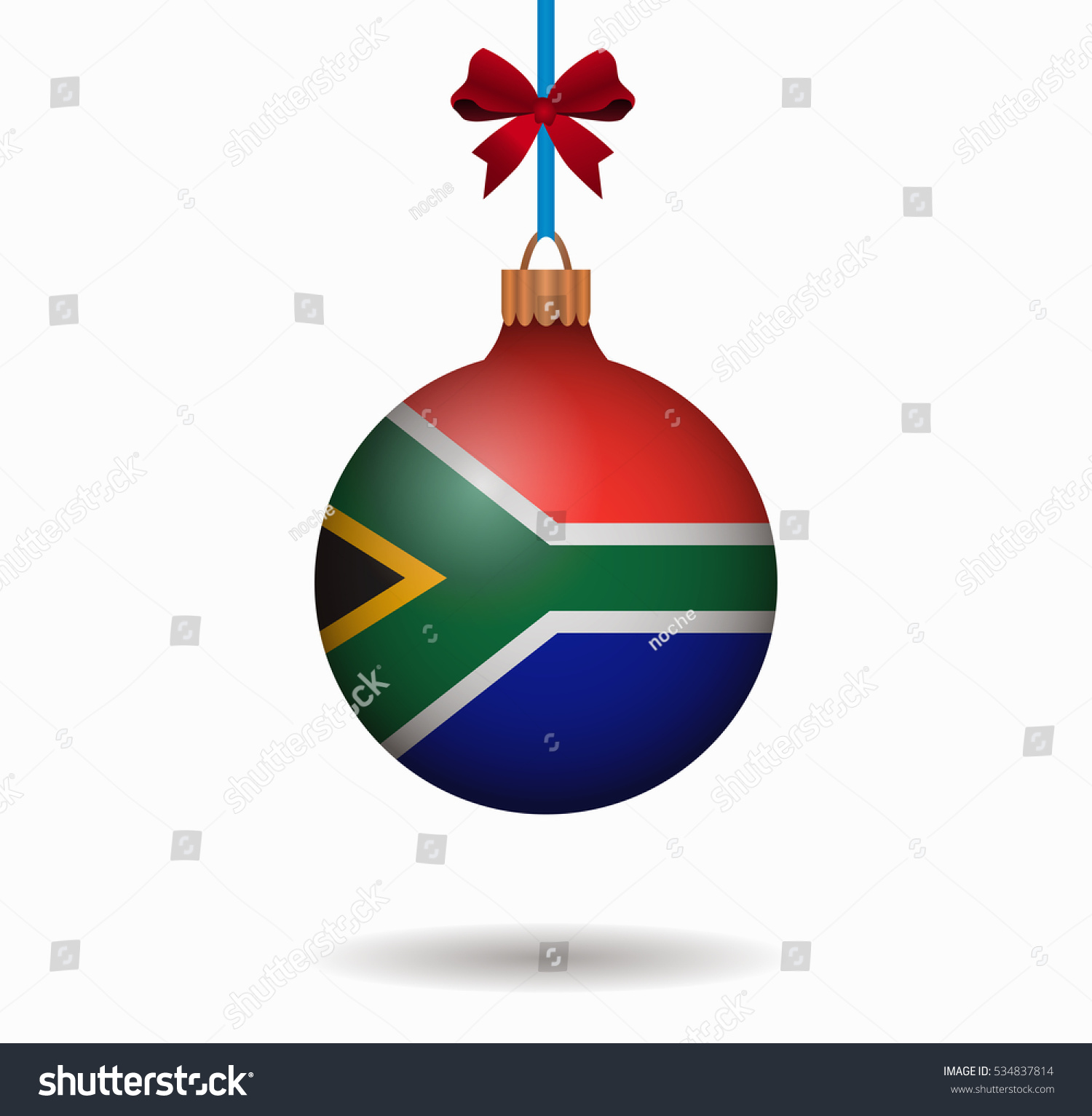Christmas In South Africa Images.Isolated Christmas Ball South Africa Stock Vector Royalty