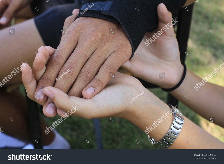 Male Black Wrist Pain Elastic Bandage Stock Photo Edit Now 534924562