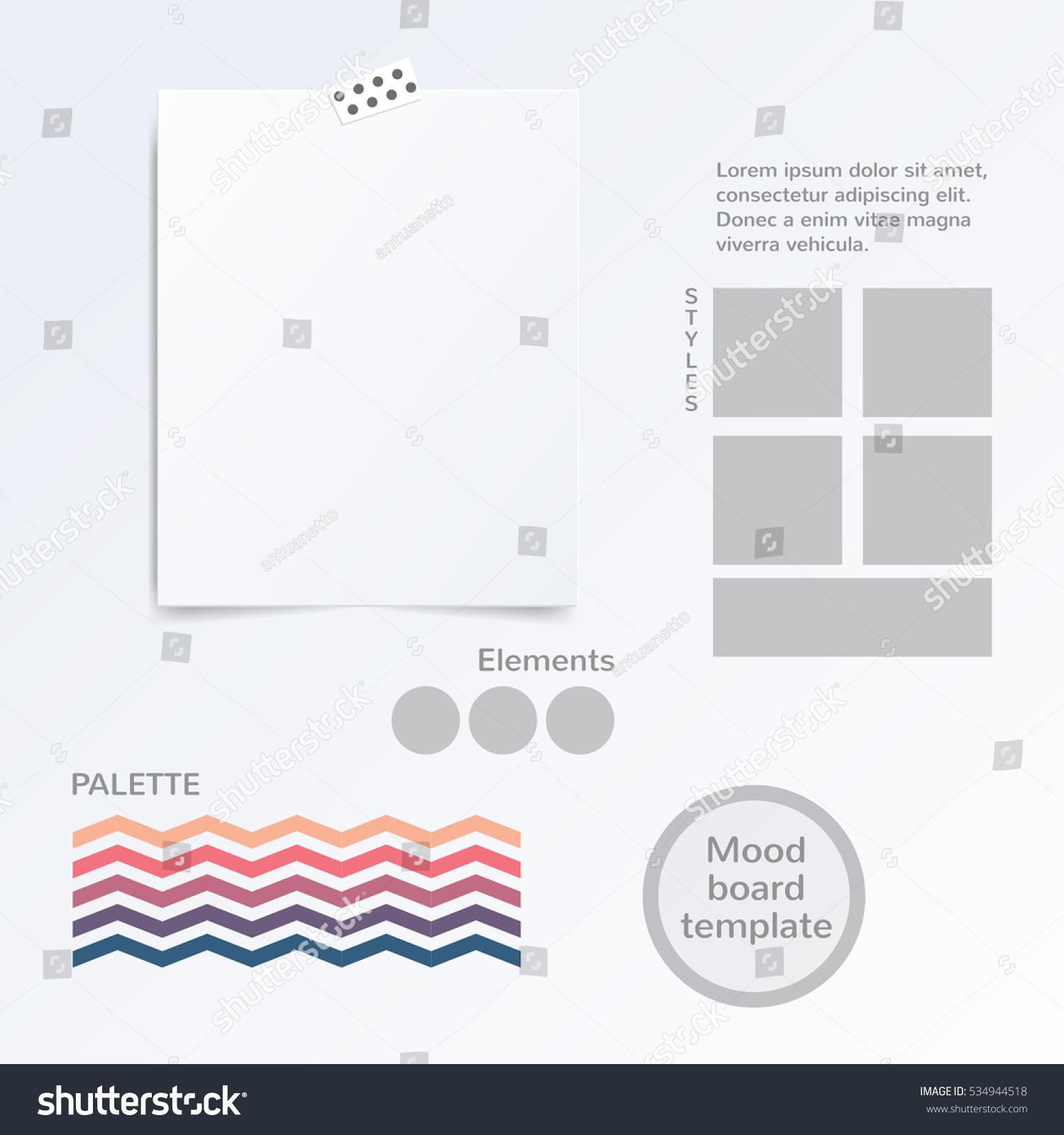 Vector Mood Board Template Color Palette Stock Vector 534944518 ...
