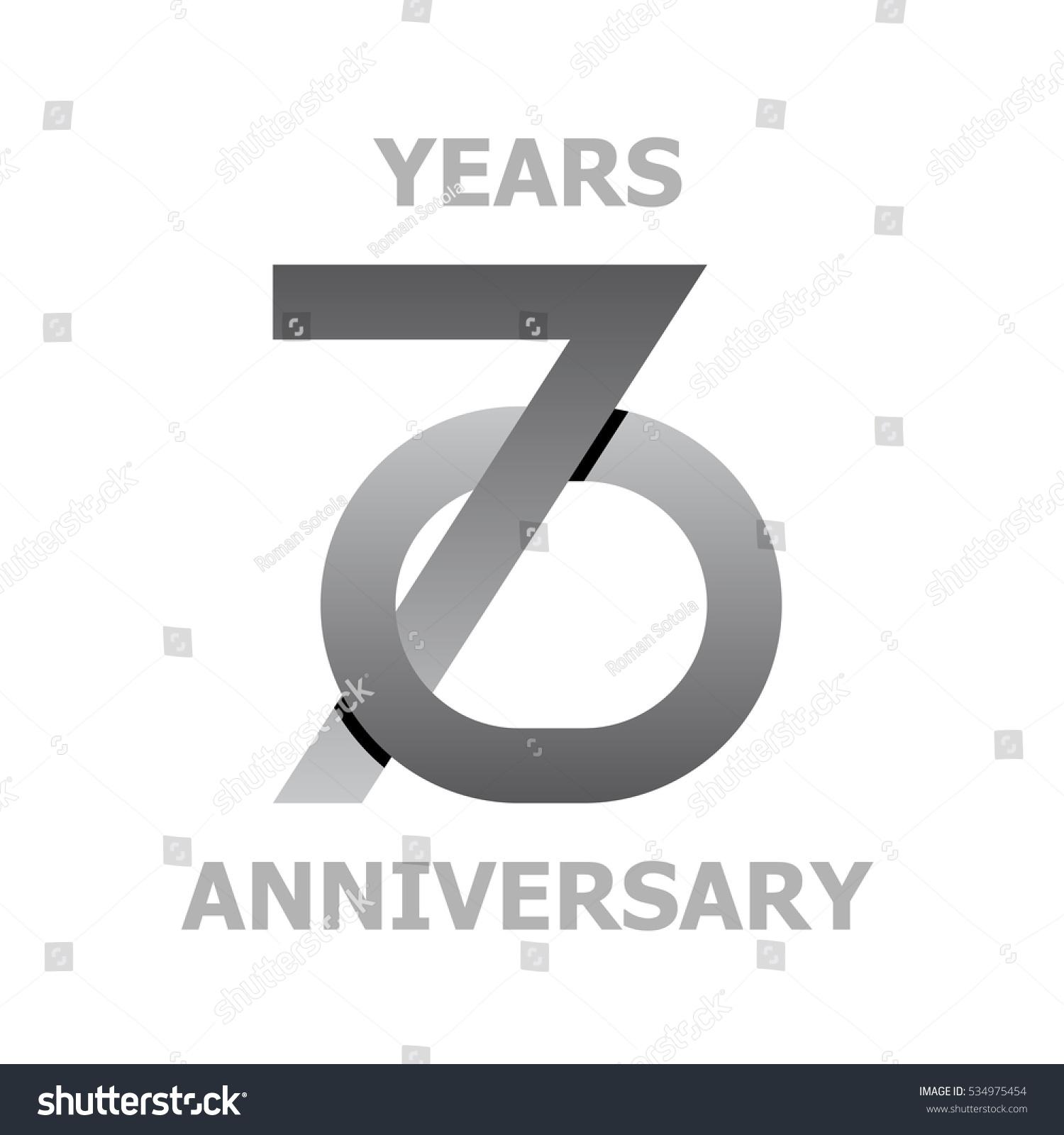 70 Years Anniversary Symbol Vector Stock Vector Royalty Free