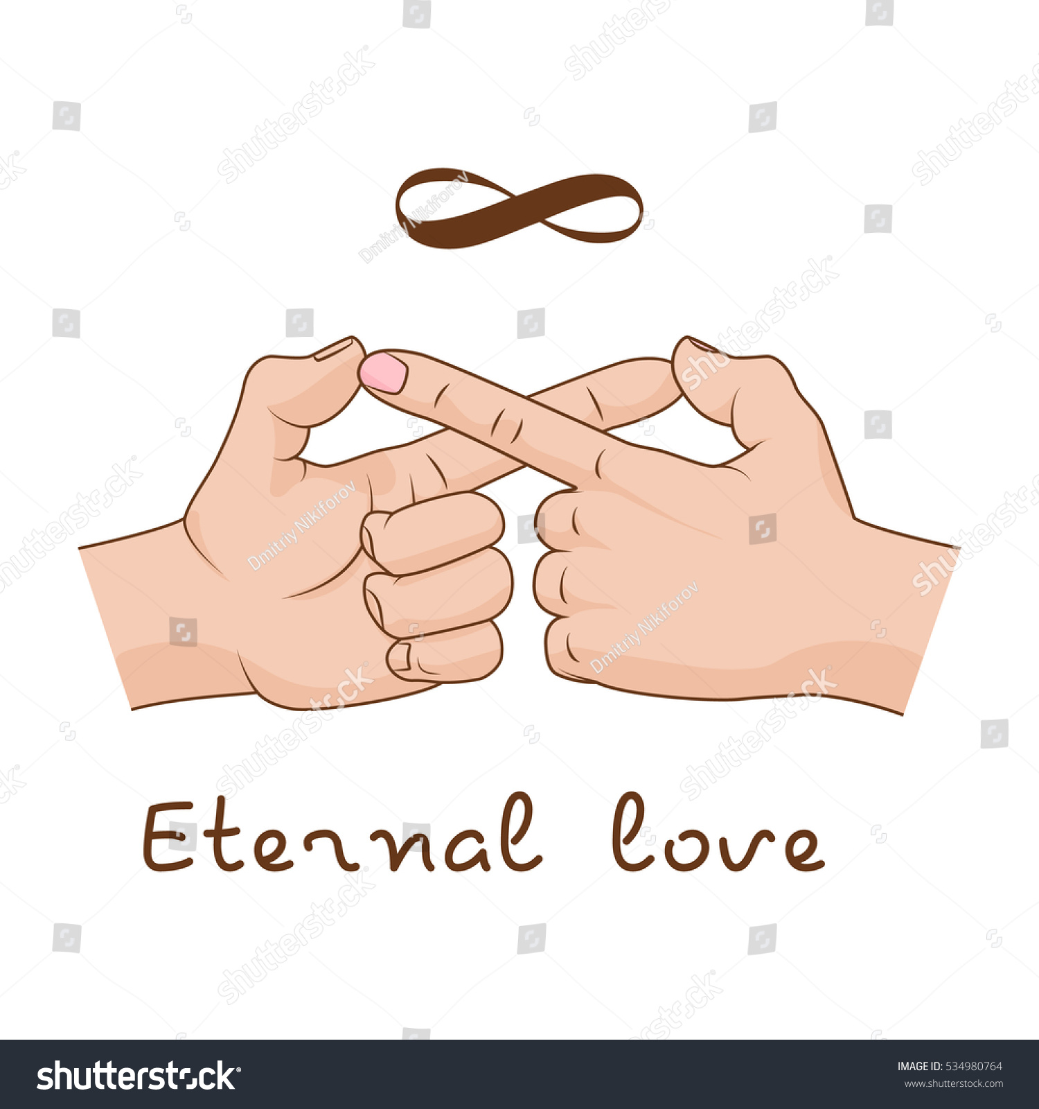 Hands Making Infinity Symbol Eternal Love Stock Vector Royalty Free