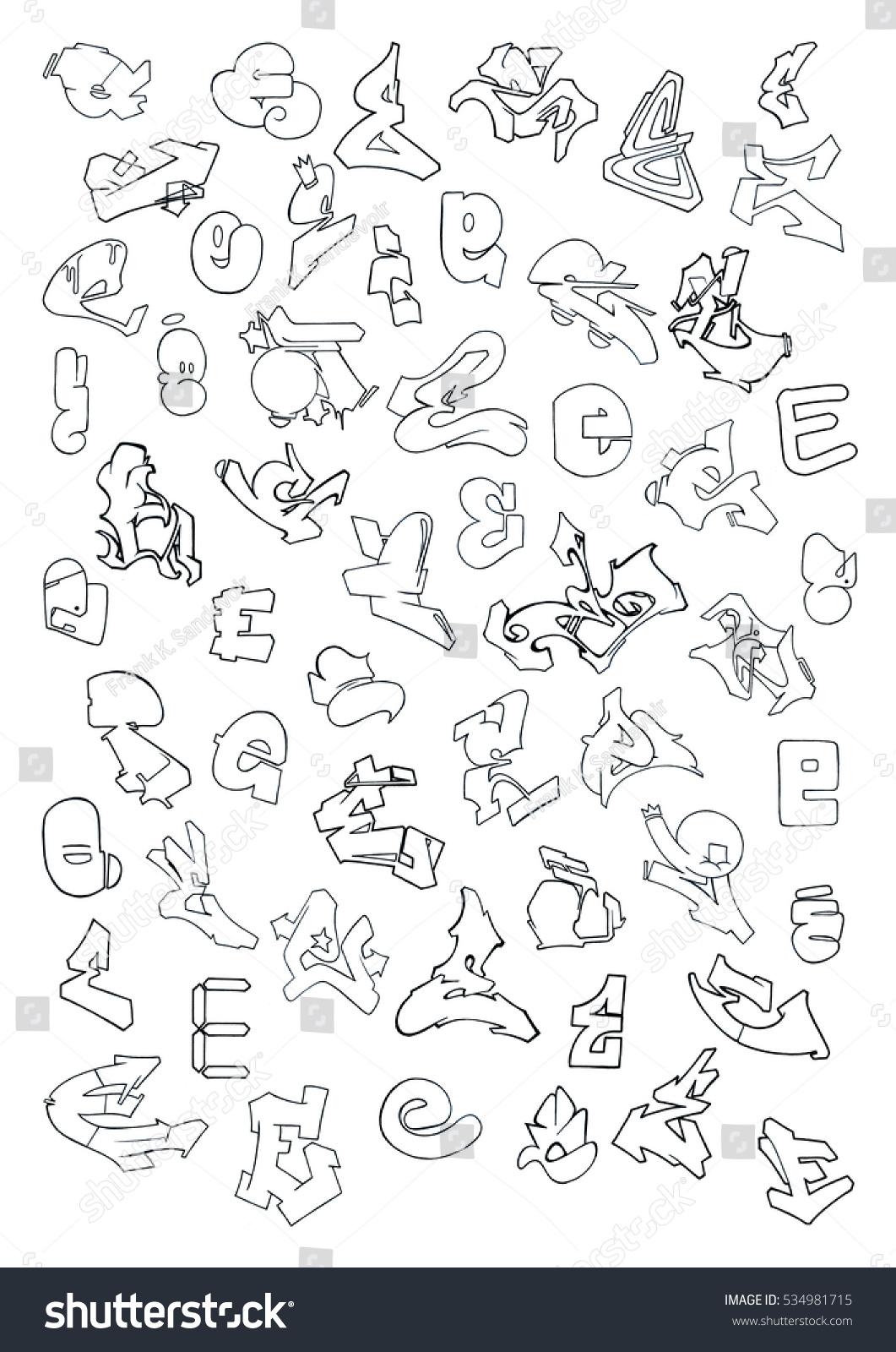 Royalty Free Stock Illustration Of Graffiti Letter E Stock