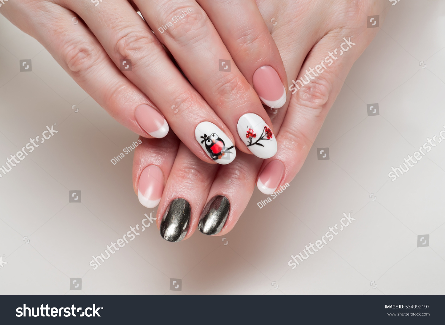 Magnificent Oval French Nails Pictures - Nail Art Ideas - morihati.com