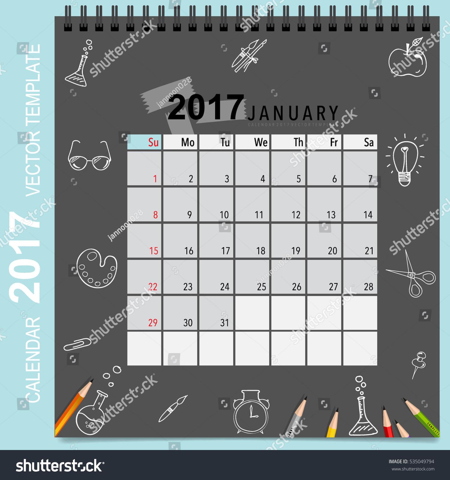 Calendar Planner Vector : Calendar planner vector design monthly stock