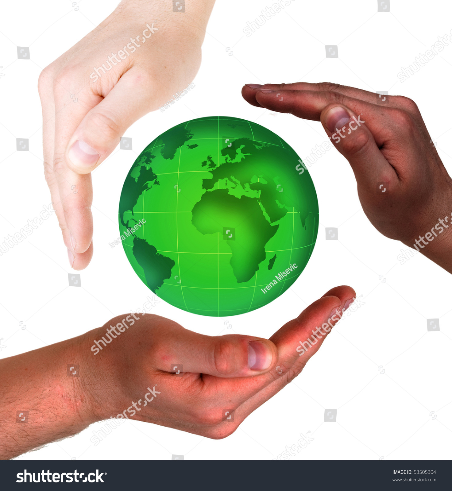 Conceptual safety symbol made hands over stock photo 53505304 conceptual safety symbol made from hands over globe biocorpaavc