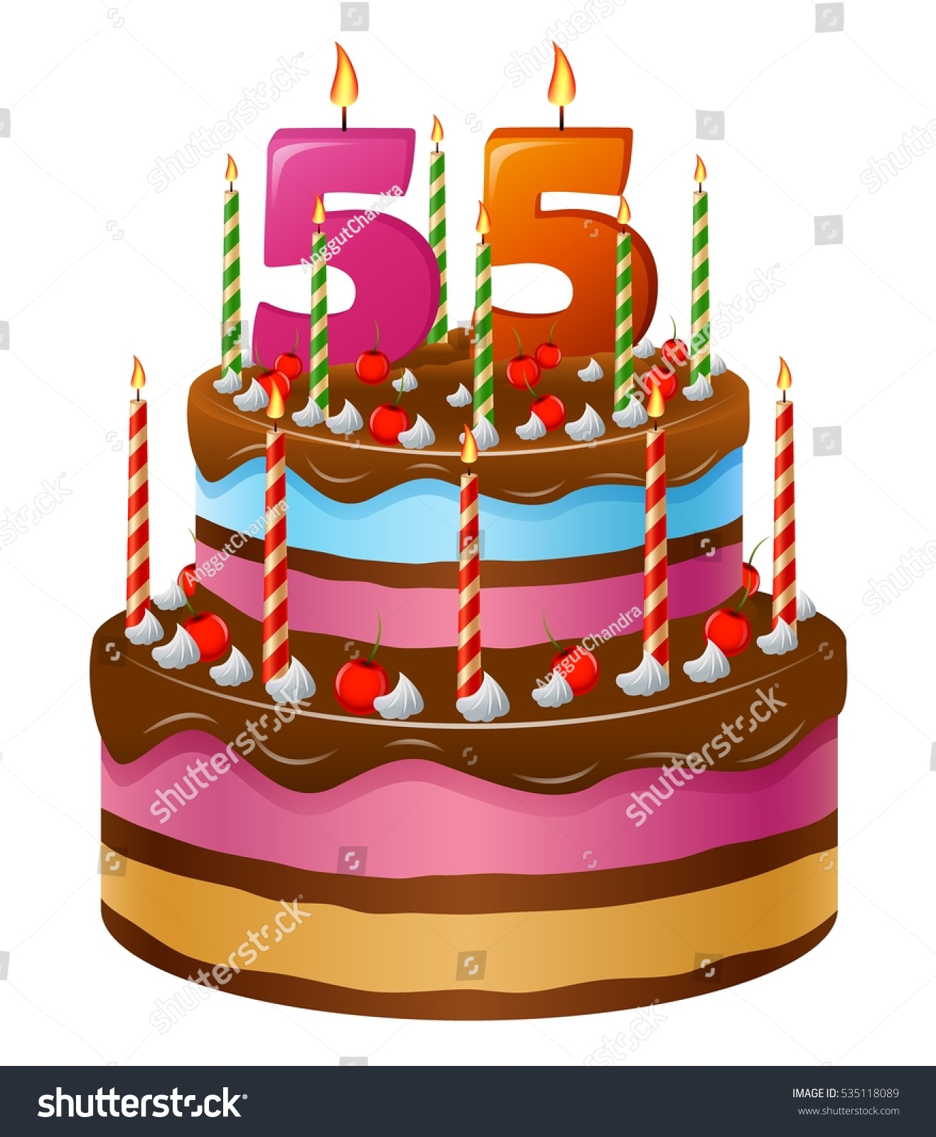 Fine Happy Birthday Cake 55 Stock Vector Royalty Free 535118089 Personalised Birthday Cards Paralily Jamesorg