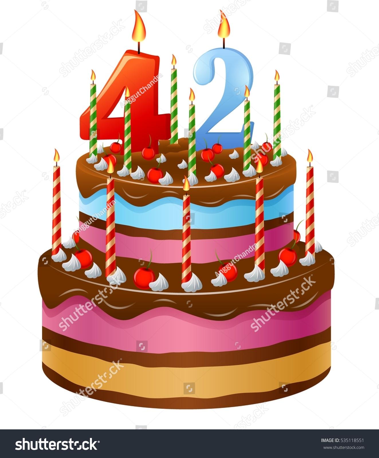 Peachy Happy Birthday Cake 42 Stock Vector Royalty Free 535118551 Funny Birthday Cards Online Fluifree Goldxyz