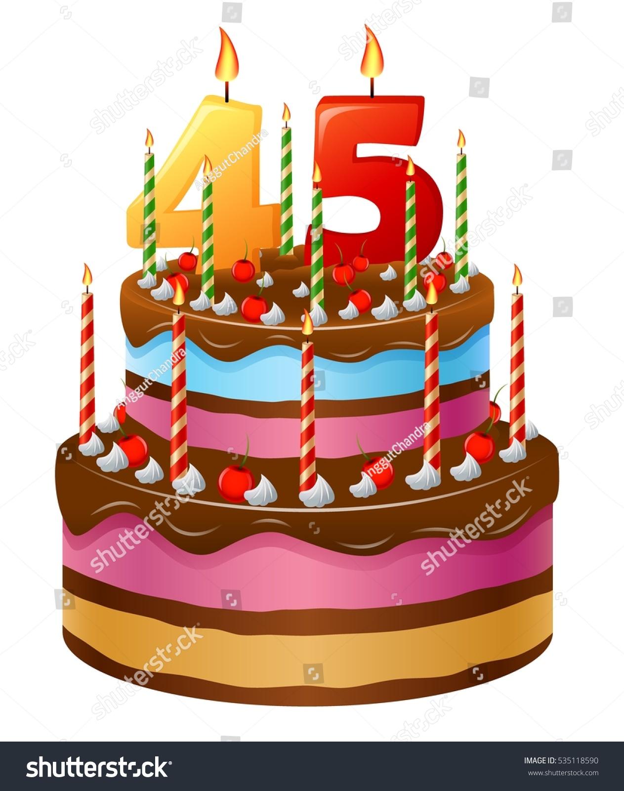 Groovy Happy Birthday Cake 45 Stock Vector Royalty Free 535118590 Personalised Birthday Cards Paralily Jamesorg