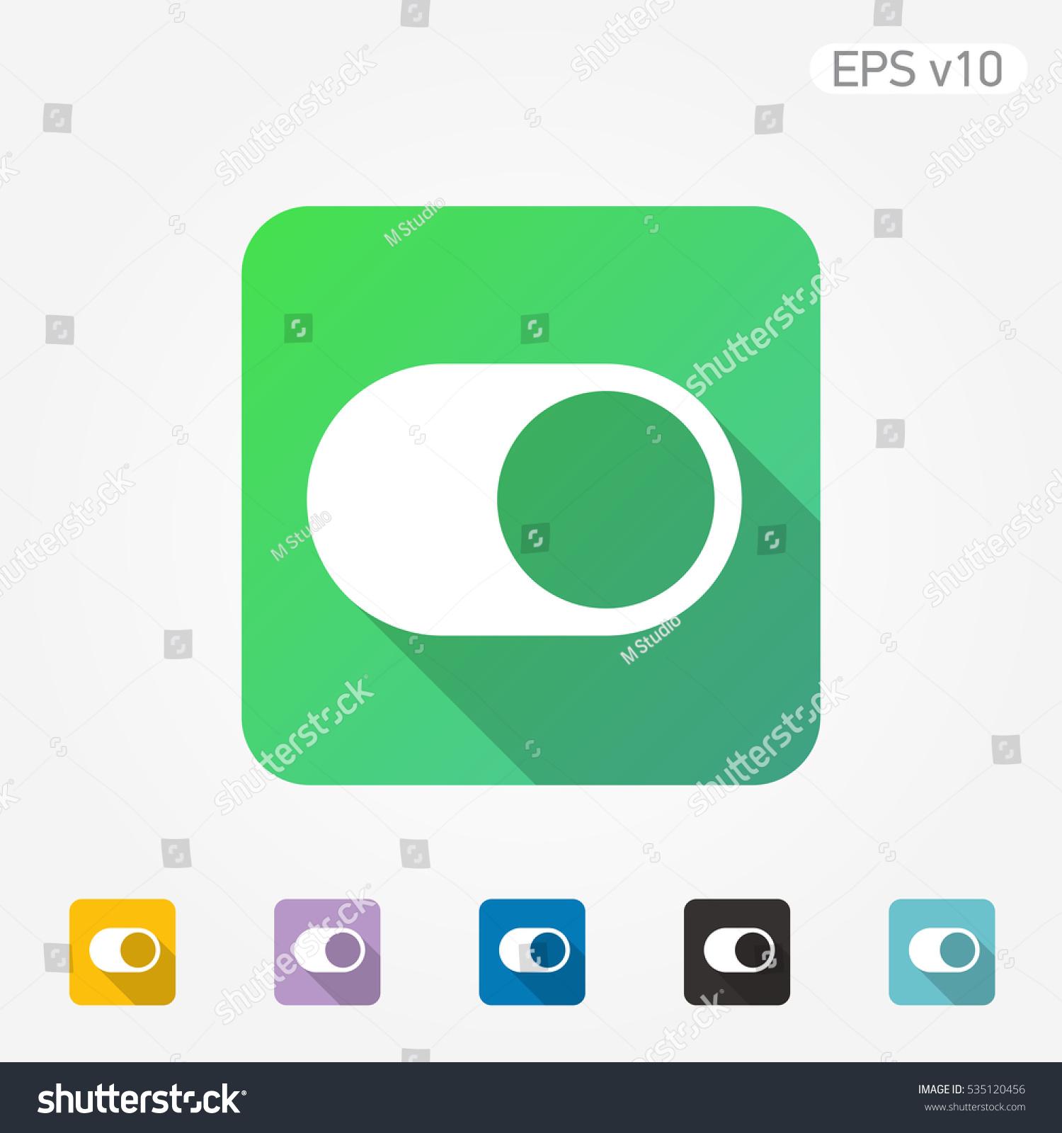 Colored Icon Switcher Symbol Shadow Stock-vektorgrafik 535120456 ...