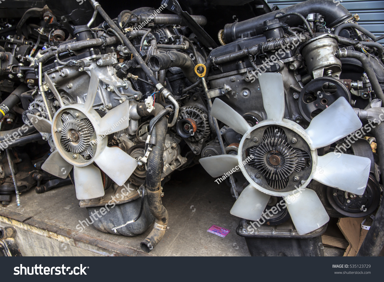 Old Car Spare Parts Thailand Stock Photo (Safe to Use) 535123729 ...