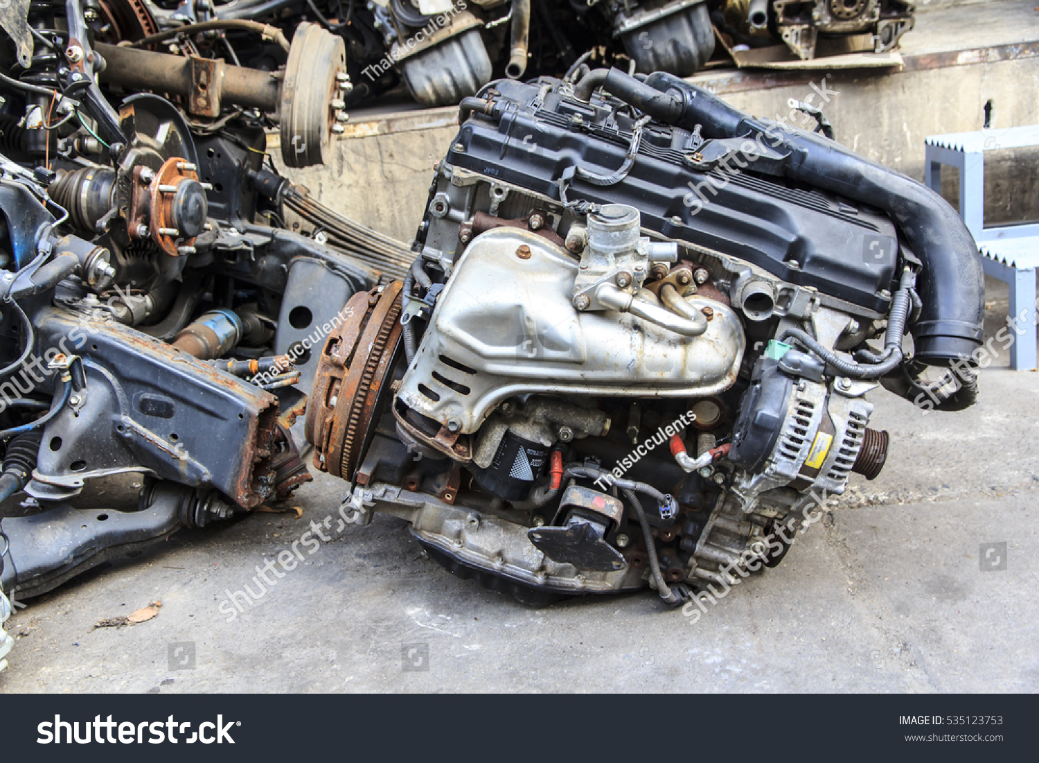 Old Car Spare Parts Thailand Stock Photo (Royalty Free) 535123753 ...