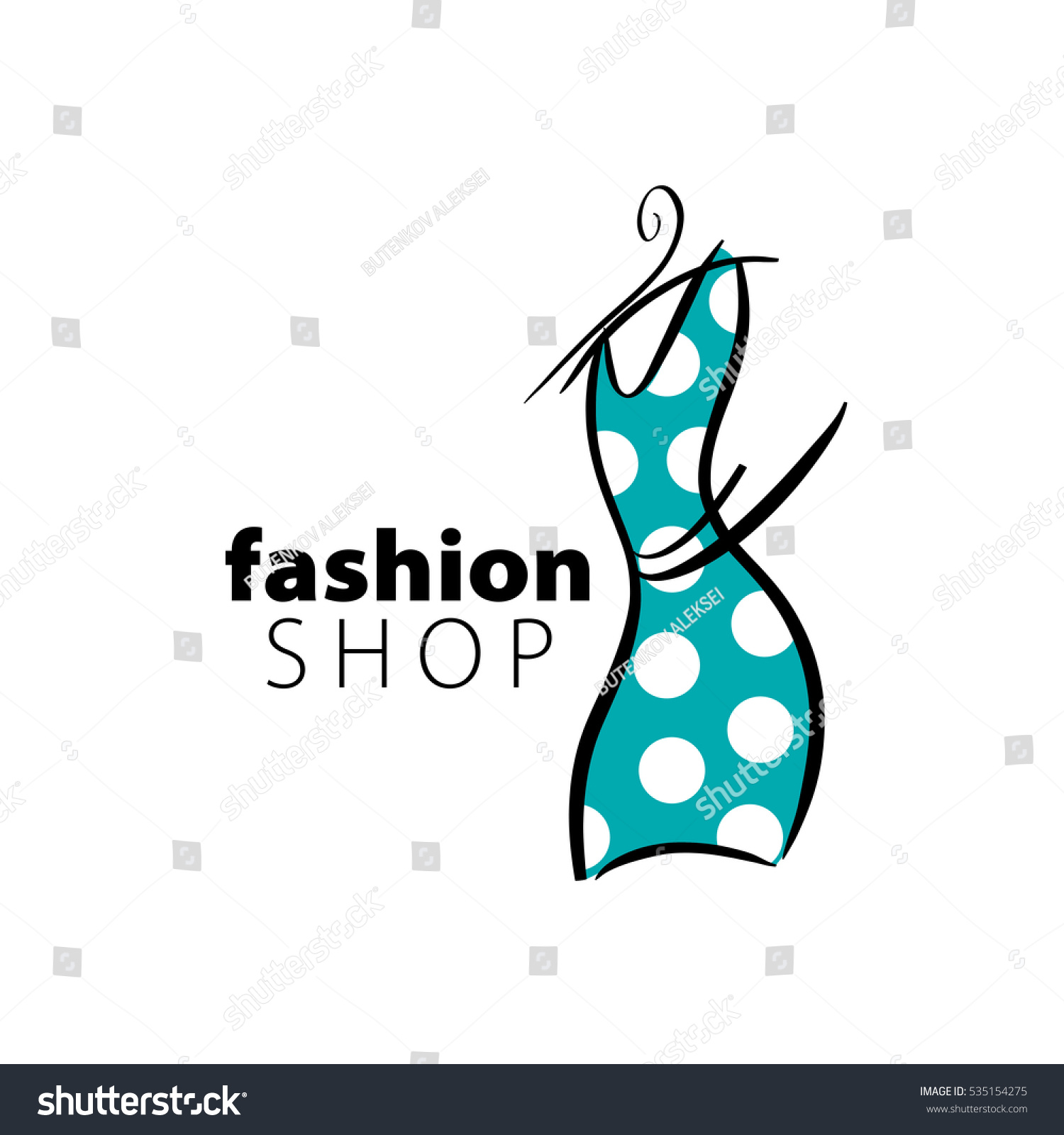 Vector Logo Fashion Stock Vector 535154275 - Shutterstock