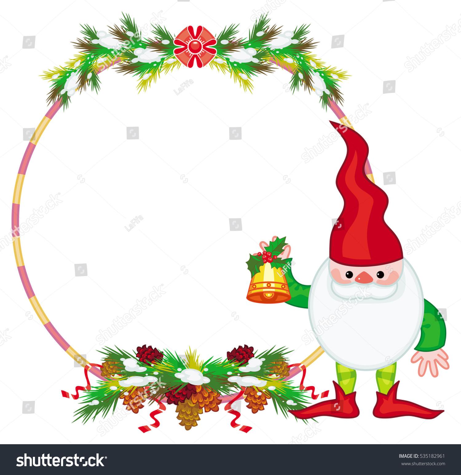 holiday frame decorations christmas elf copy stock illustration rh shutterstock com