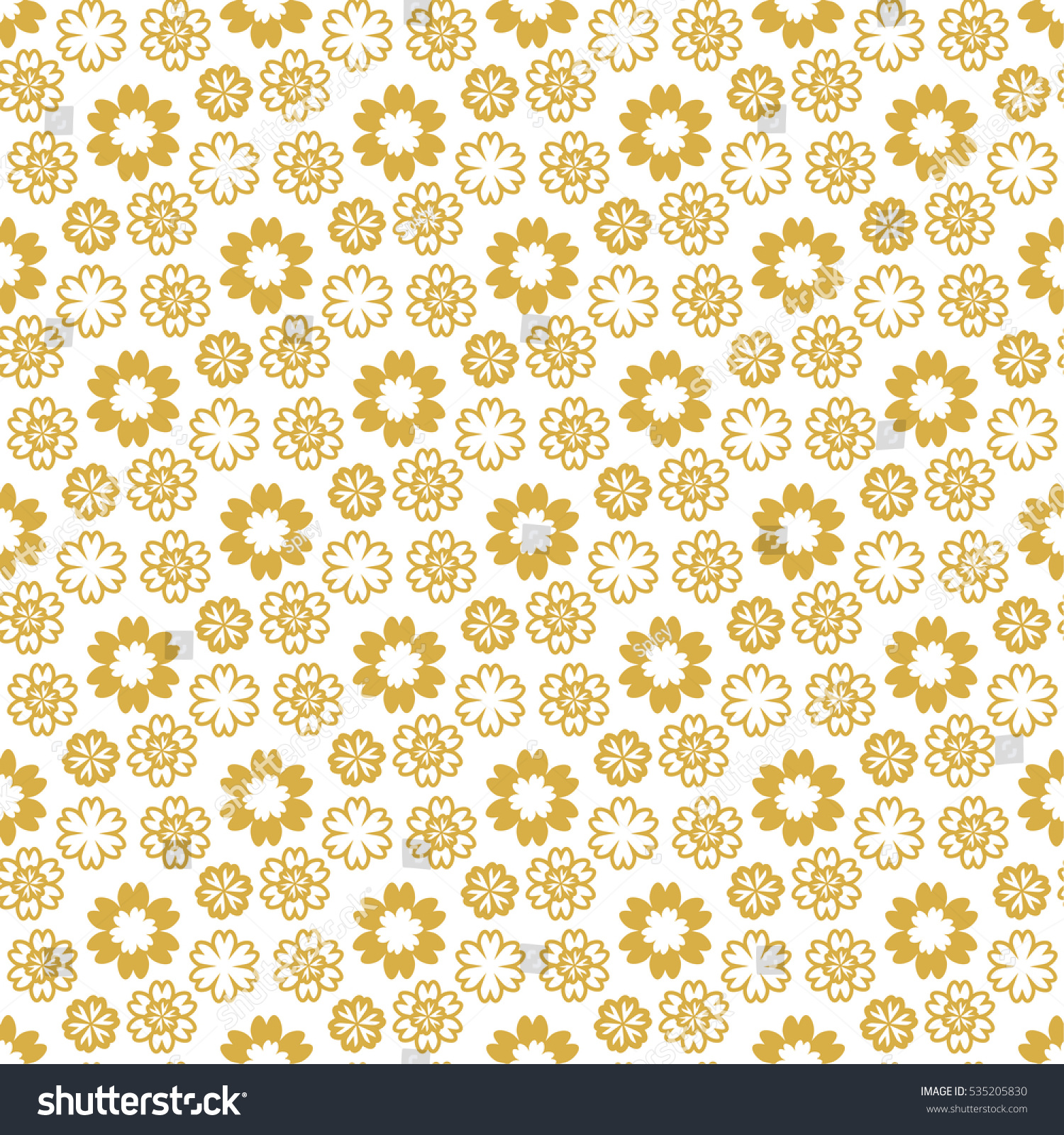 Seamless Pattern Flowers Background Gift Wrapping Stock Vector (2018 ...