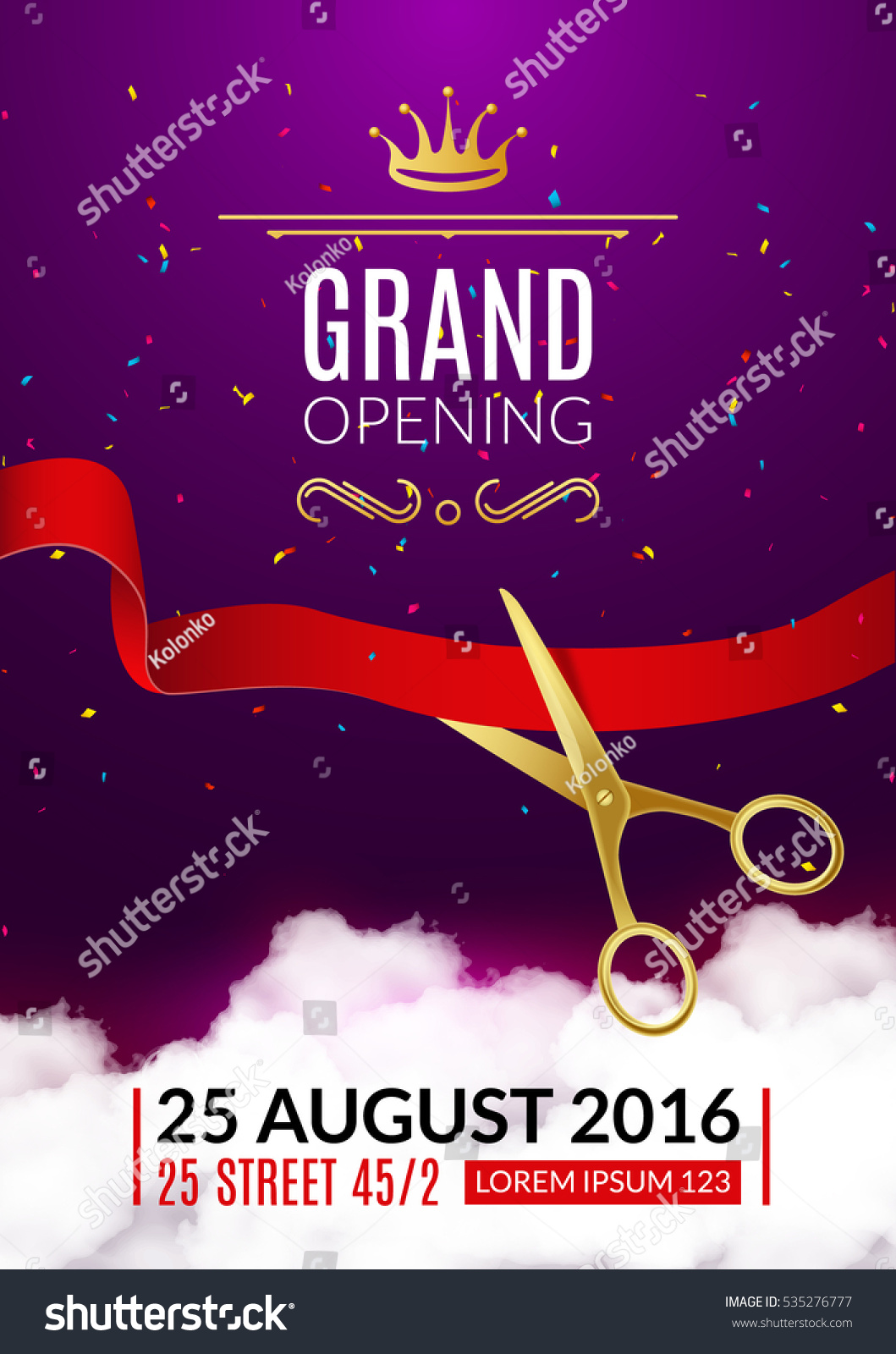 Grand Opening Invitation Card Grand Opening Vector 535276777 – Grand Opening Flyer