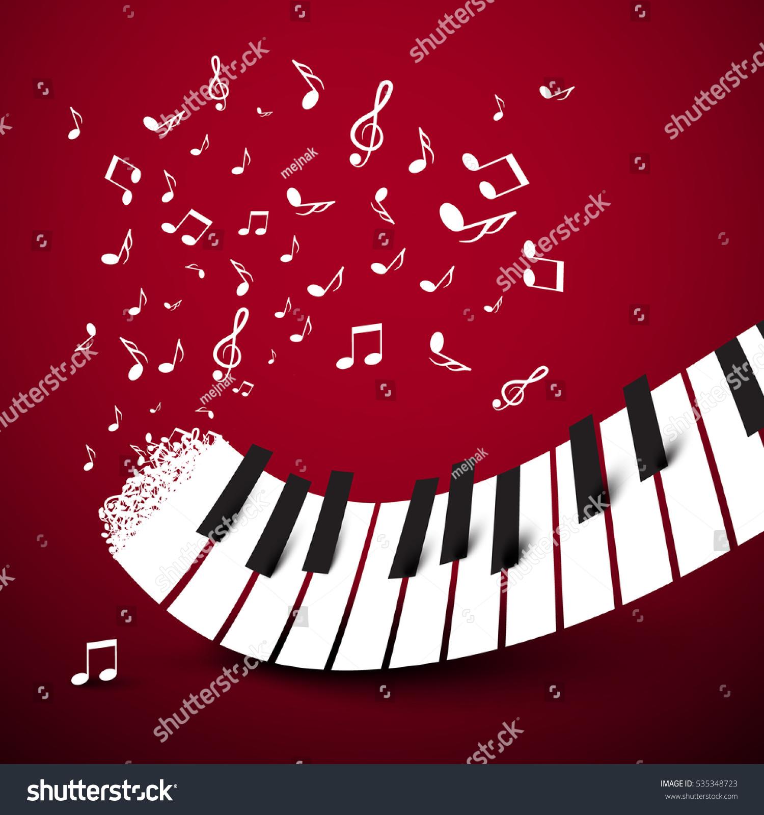 Piano Keys Keyboard Notes Music Symbol Stock Vector Royalty Free