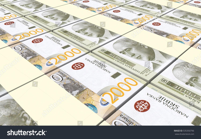 Serbian Dinar Bills Stacks Background 3d Illustration Ez Canvas