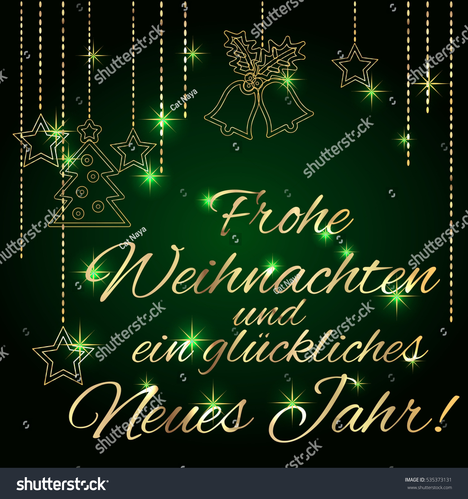Merry christmas happy new year card stock vector 535373131 merry christmas and happy new year card template with greetings in german language luxury m4hsunfo