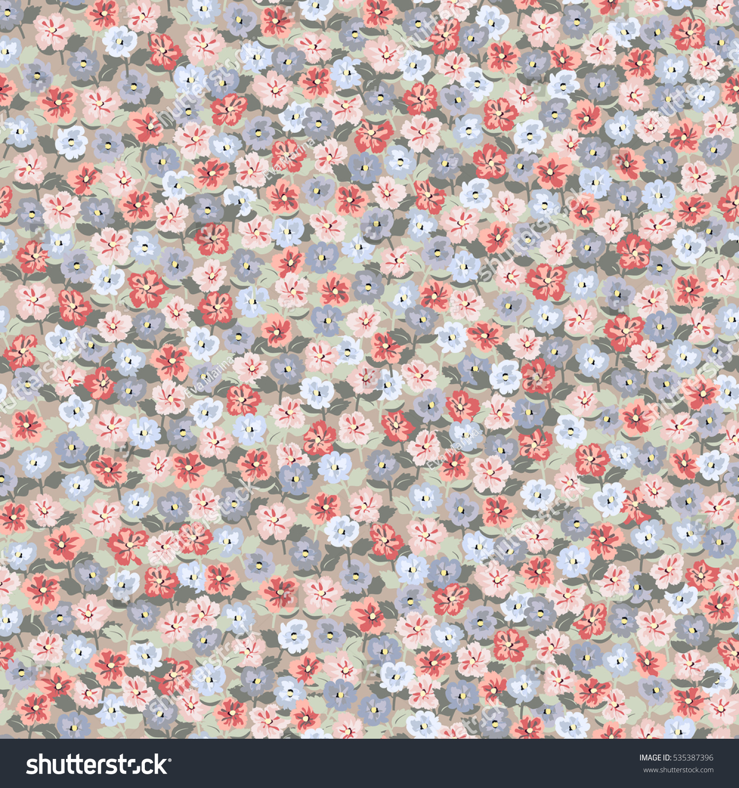 Cute Book Cover Backgrounds : Seamless cute pattern small flowers floral stock vector