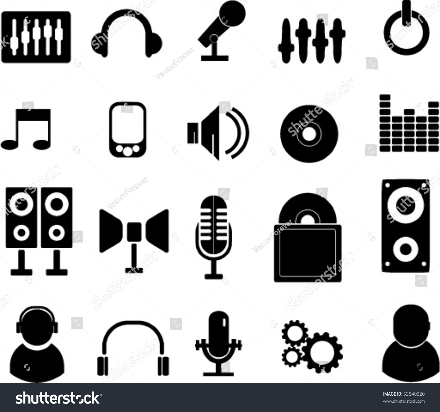 20 Music Signs Vector Stock Vector 53540320 - Shutterstock