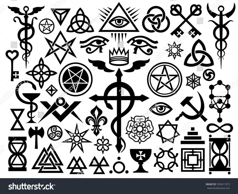 Medieval occult signs magic stamps sigils stock vector 535411573 medieval occult signs and magic stamps sigils locks knots mystic symbols biocorpaavc Choice Image