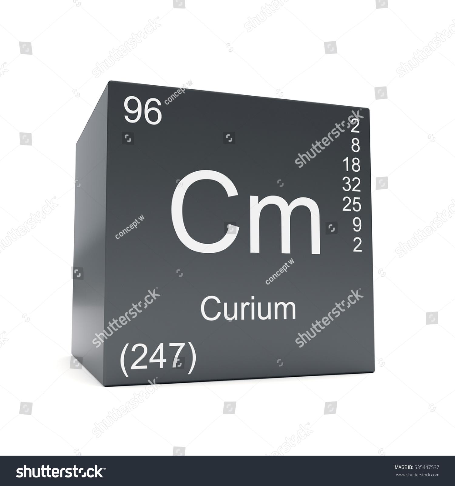 Curium Chemical Element Symbol Periodic Table Stock Illustration
