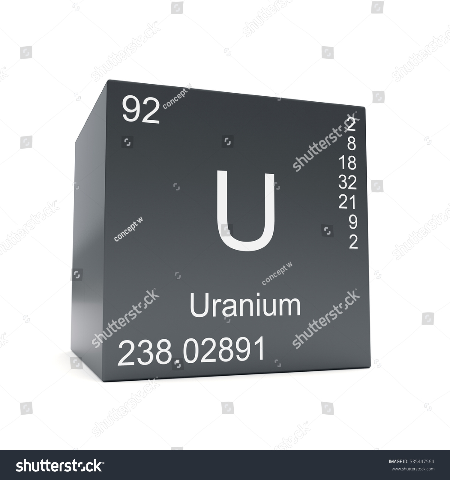 Uranium chemical element symbol periodic table stock illustration uranium chemical element symbol from the periodic table displayed on black cube 3d render gamestrikefo Image collections