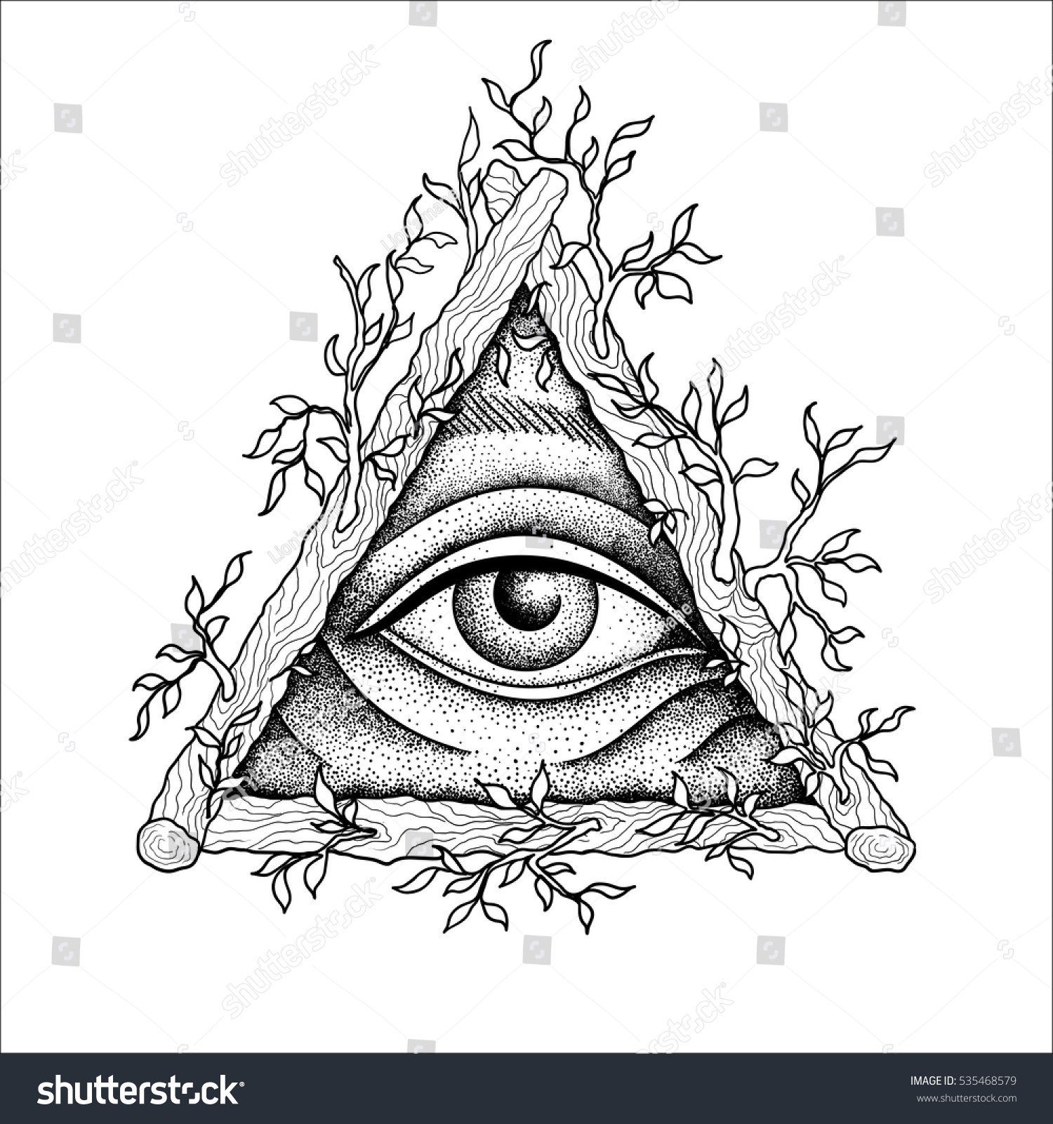 Royalty Free Eye Of Providence Masonic Symbol All 535468579