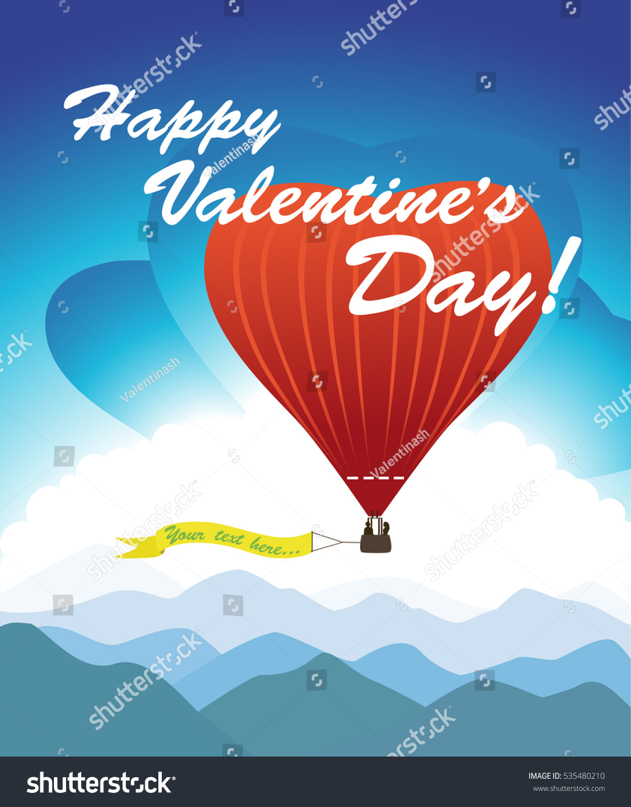 Greeting Card Valentines Day Romantic Hot Stock Vector 2018