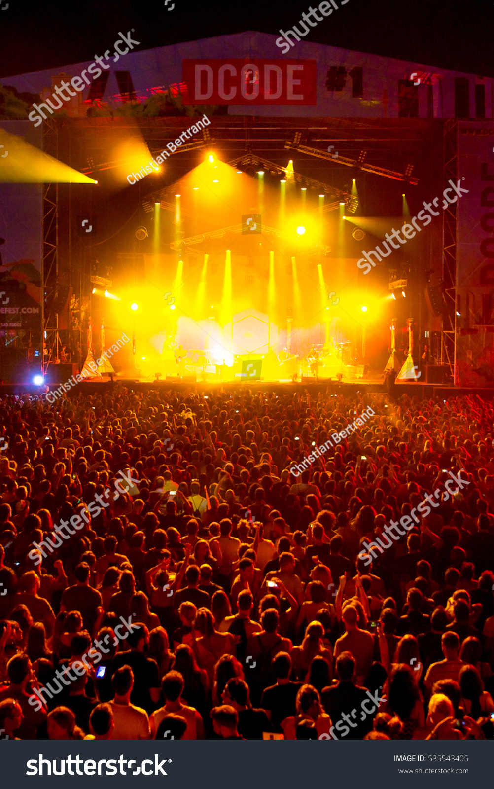 MADRID - SEP 10: The crowd in a concert at Dcode Music Festival on September 10, 2016 in Madrid, Spain. #535543405