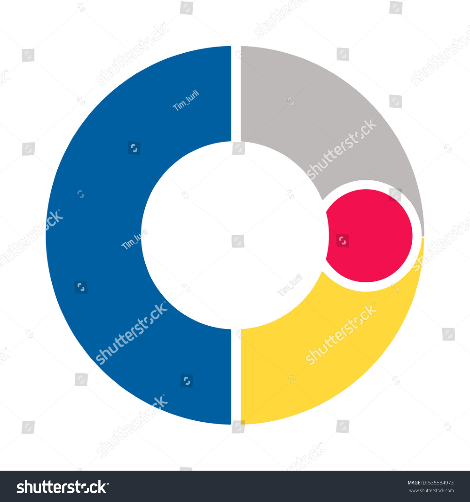 Infographics vector diagram pattern pie chart stock vector the pattern of a pie chart of the four colored sections nvjuhfo Gallery