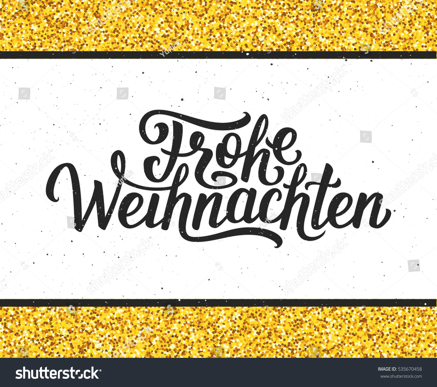 Royalty Free Stock Illustration of Frohe Weihnachten Calligraphic ...