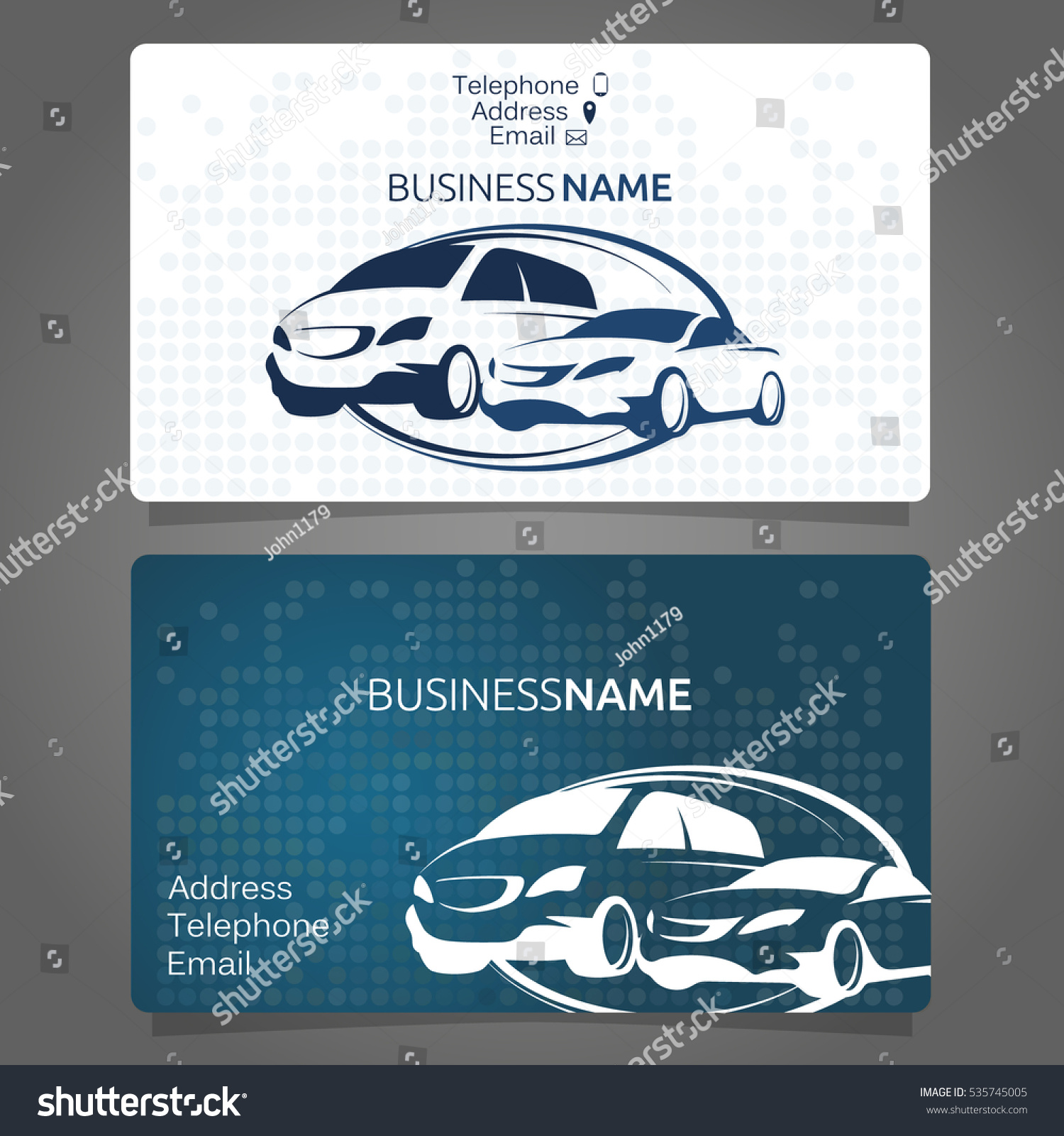 car rental business card pany stock vector shutterstock
