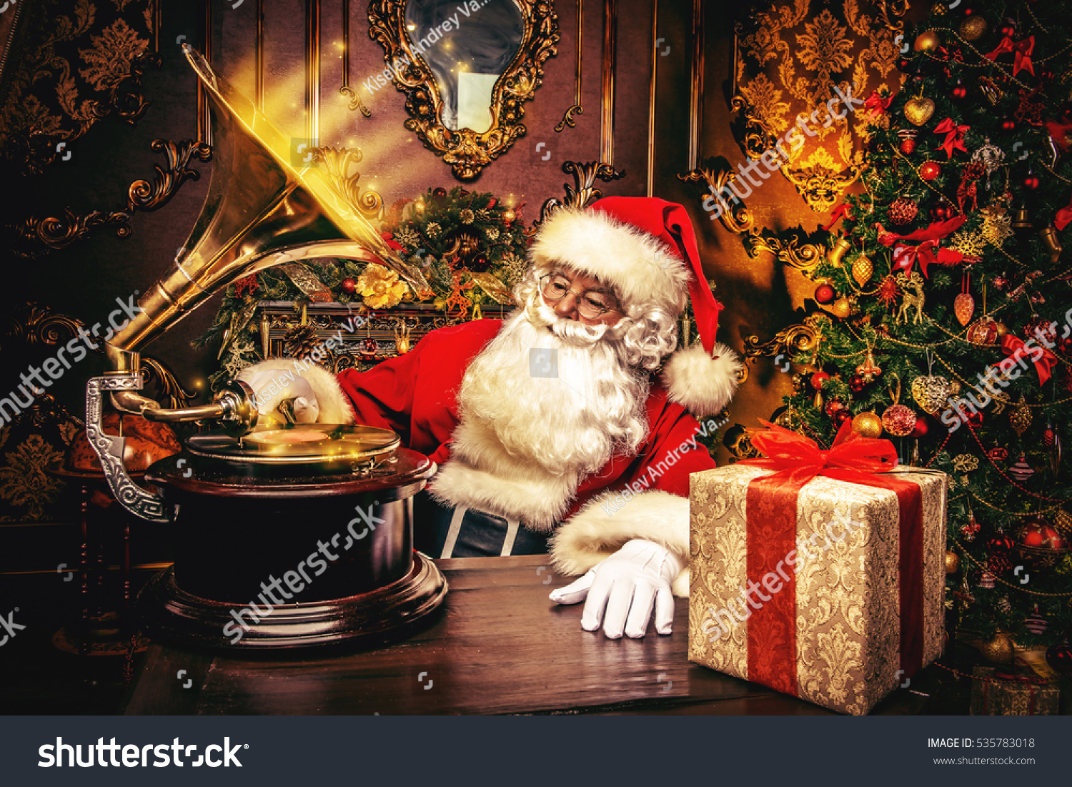 Good Old Santa Claus Resting Home Stock Photo (Edit Now) 535783018 ...