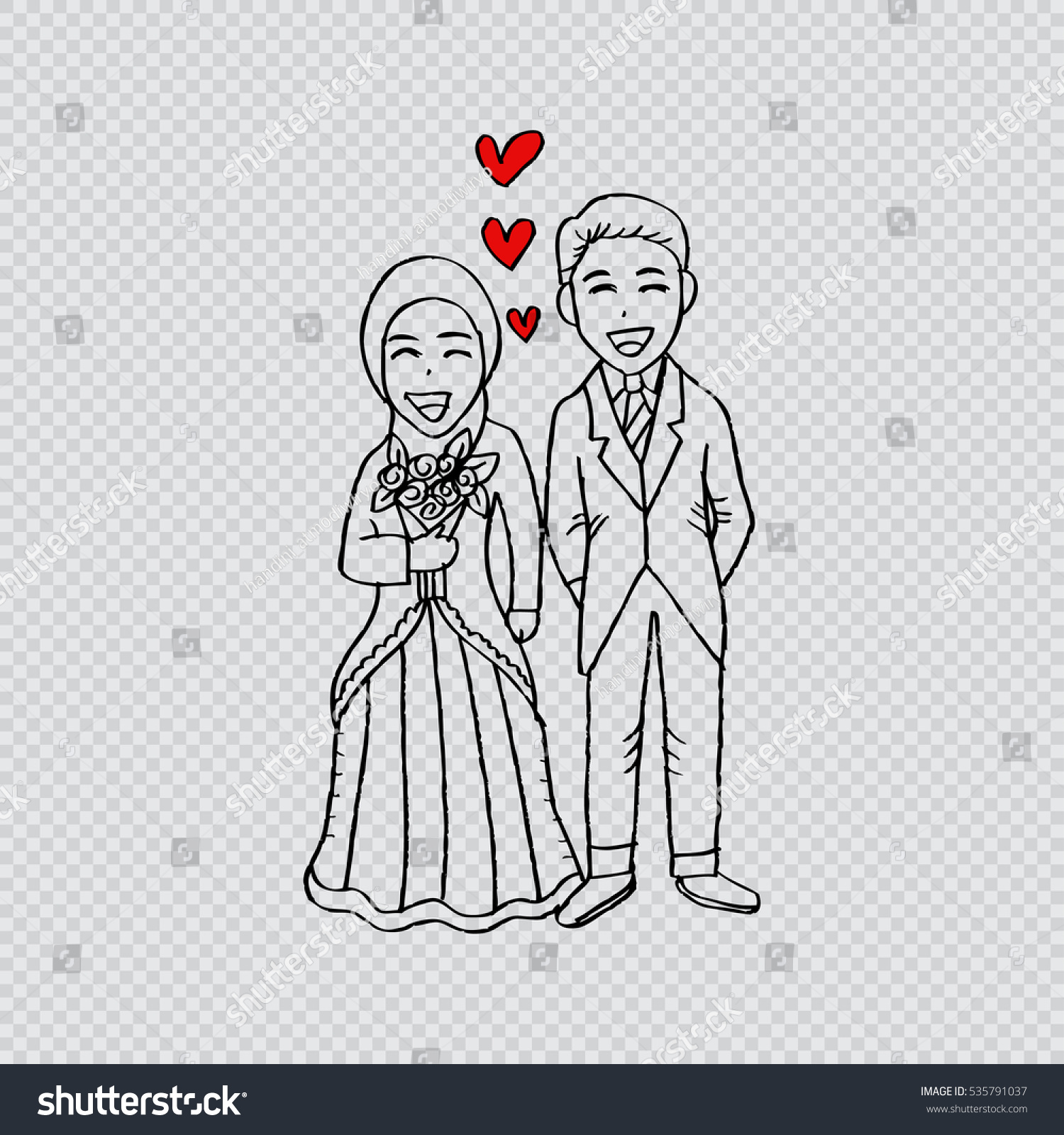 Islamic wedding couple