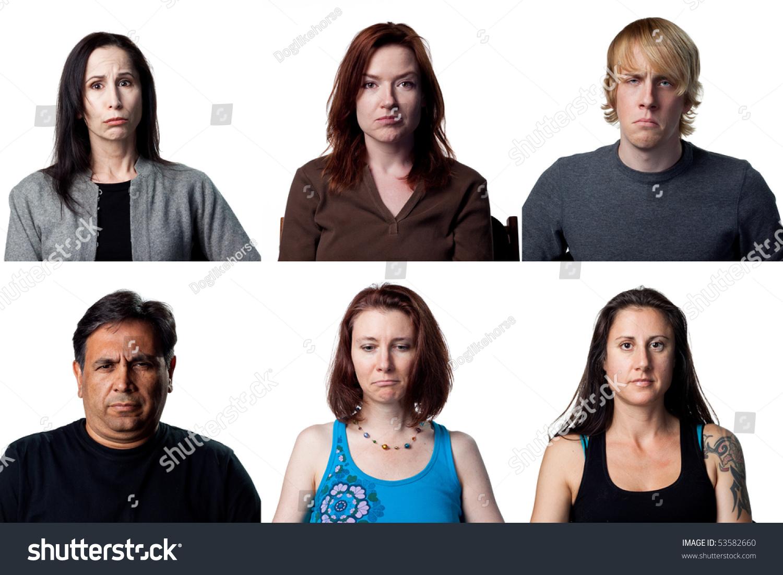 Six Sad Portraits, Peo...
